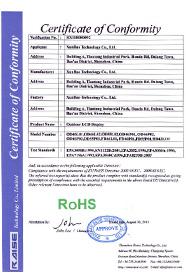 迅豹产品RoSH认证证书