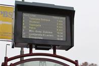 斯洛文尼亚公交站应用迅豹户外广告机