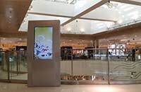 立式广告机选迅豹生产,上海世博购物中心。