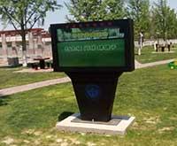 把户外液晶LCD广告机应用到气象,只有北京通州科学馆