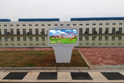迅豹55寸户外机助力株洲创建全国文明城市